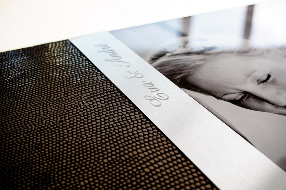 fotobuch - fotoalbum - laser initialen